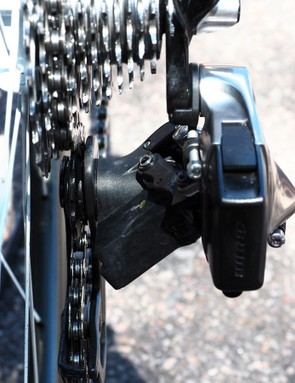 The motor unit is located on the lower knuckle of the rear derailleur
