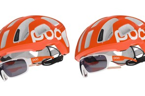 The Eye Park glasses attach via a magnet at the center of the helmet, just above the nose bridge