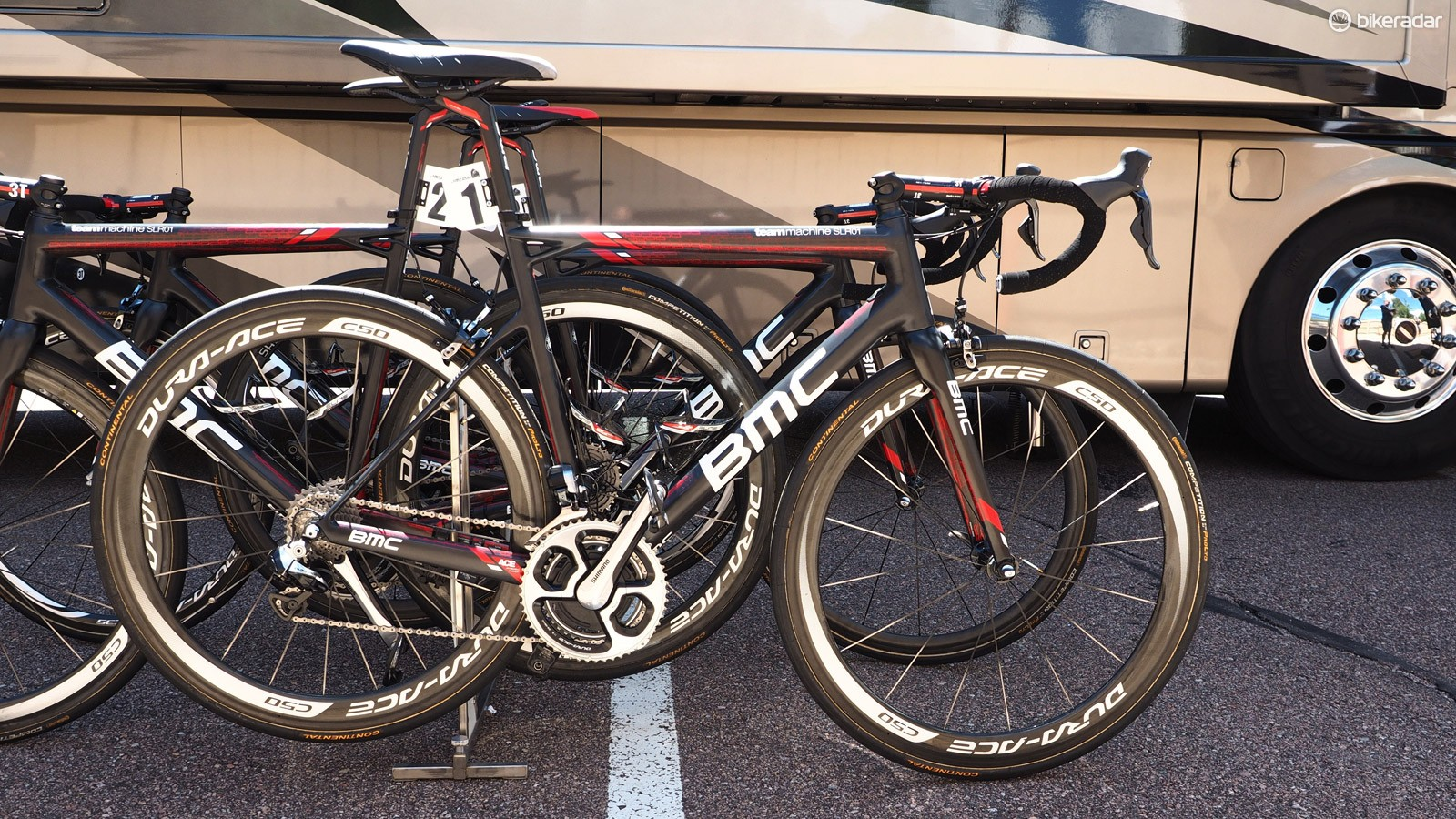 Tejay van Garderen (BMC) is racing at the USA Pro Cycling Challenge aboard a BMC TeamMachine SLR01