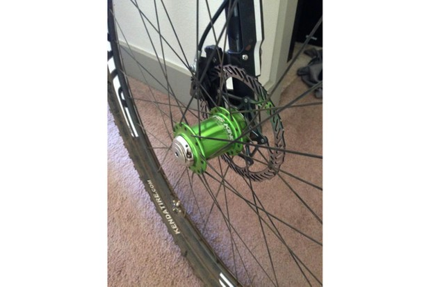 What have we here? Cannondale factory team rider Ryan Trebon recently previewed a new Chris King front hub for Cannondale Lefty forks