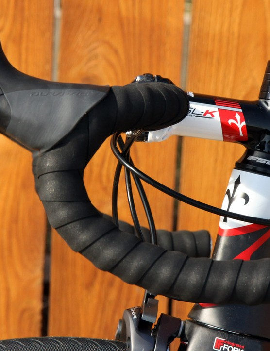 The compact-bend bar is comfortable but still a curious choice for a bike that's so focused on speed as there's little difference in position between the hoods and the drops