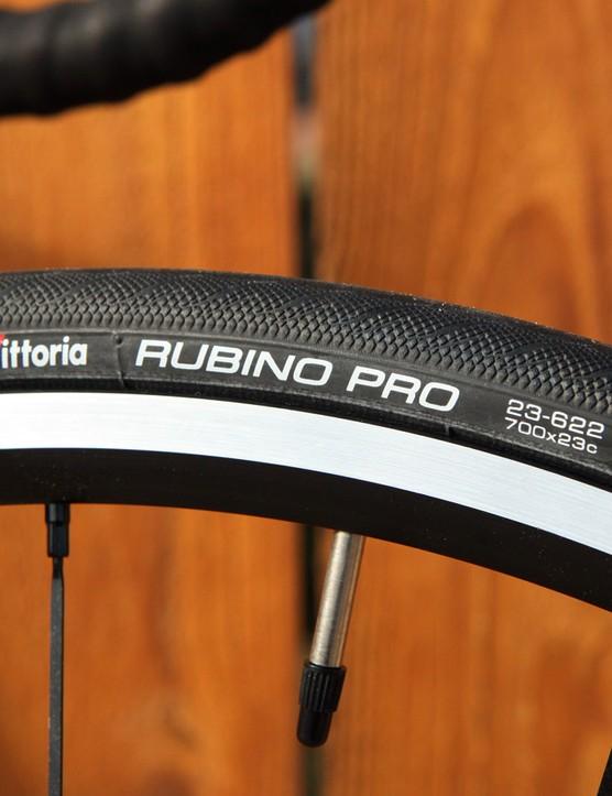 The Vittoria Rubino Pros ride stiffly and offer so-so grip