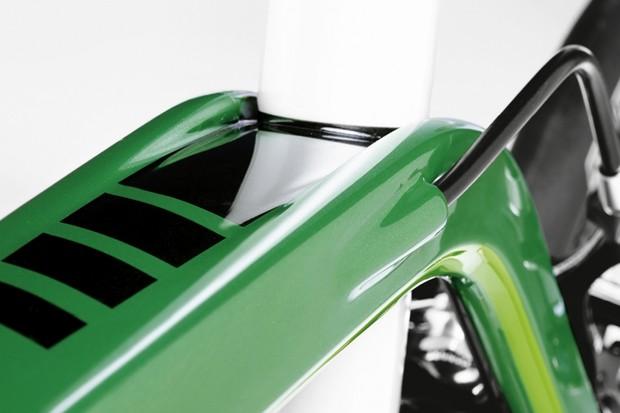 The seat tube seems an odd shape for an aero bike