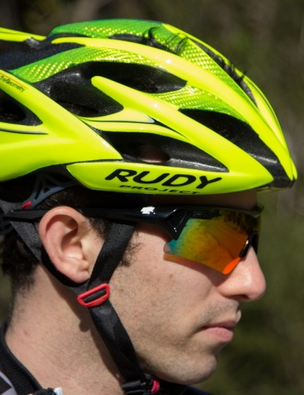 The Rudy Project Windmax fit our heads perfectly and worked fine with all the sunglasses we tried it with, including many big brands