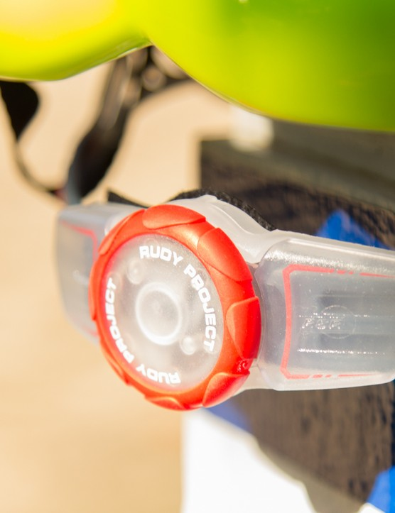 The plastic retention dial doesn't feel as solid as some others, but the rubber coated dial is simple to use while riding