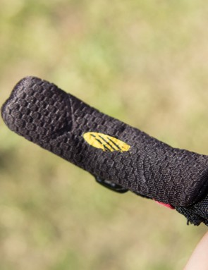 A generous pad sits directly over the chinstrap buckle for additional comfort
