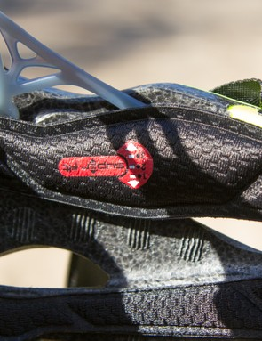 The retention strap is fixed to the helmet at the sides. There is a small amount of height adjustment available here too