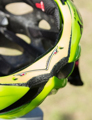 The Visorport works with the supplied visors (which you don't get in Australia), one for mountain biking a shorter road version, which is claimed to help smooth airflow