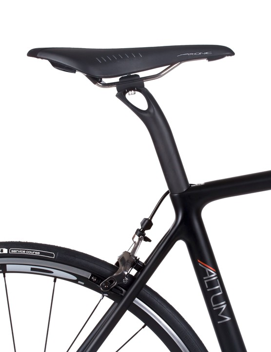 The Altum's seatpost is available in both inline and lay-back options