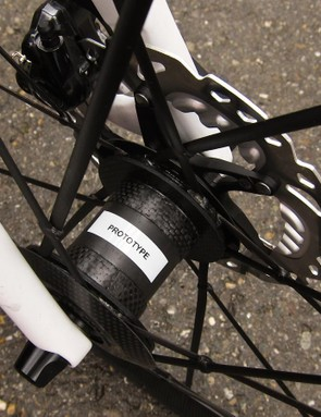 Lightweight were showing this Shimano Centerlock disc version at Eurobike