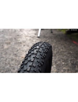 When mounted on WTB's new 45mm-wide Scraper rim, the new Trailblazer 2.8 tyre boasts a nicely squared-off profile