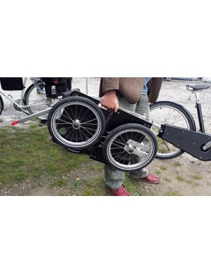 When not in use, the new Carry Freedom Leaf trailer folds flat for storage and weighs just 7kg (15.4lb). Suggested retail price will be around US$400 once it becomes available next spring