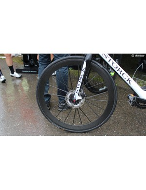 Lightweight has prototype disc versions of its ultra-expensive wheels, but hasn't yet committed to production