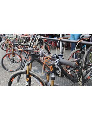 Flouro colours abound on 2015 bikes