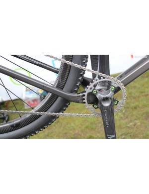 The Open hardtail has asymmetric stays