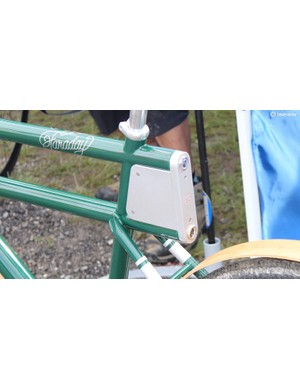 Rechargeable battery/light at the rear