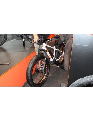 Just a quick glance inside the cavernous halls of Eurobike revealed more than one fat bike with a motor