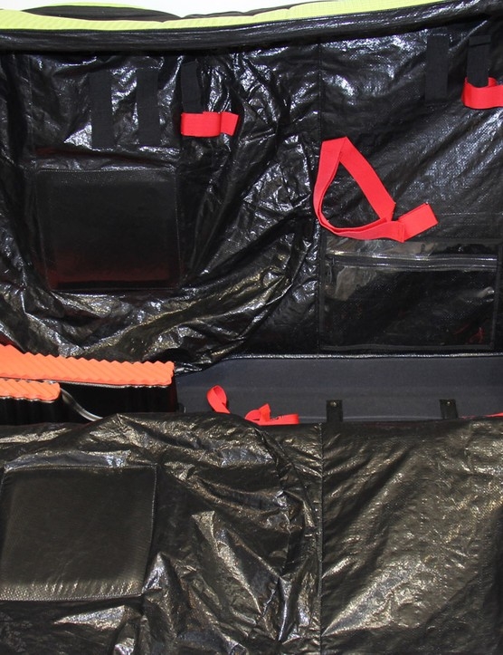 The straps used to hold the frame in place are now red, making them easier to locate