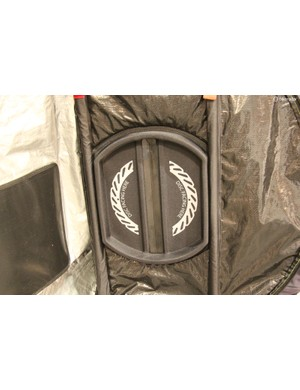 The wheel compartments, located on either side of the bag, now have reinforcements to keep rotors from damaging the bag (or being bent during transport)
