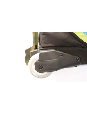 Even the Bike Travel Bag Pro gets slightly larger wheels…