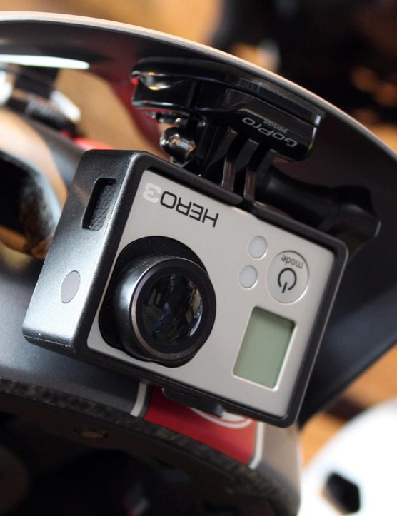 The GoPro mount has been revised with improved breakaway capability in a crash scenario