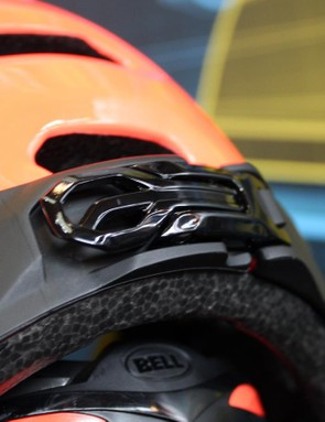 There's also a fastening at the centre of the rear of the helmet