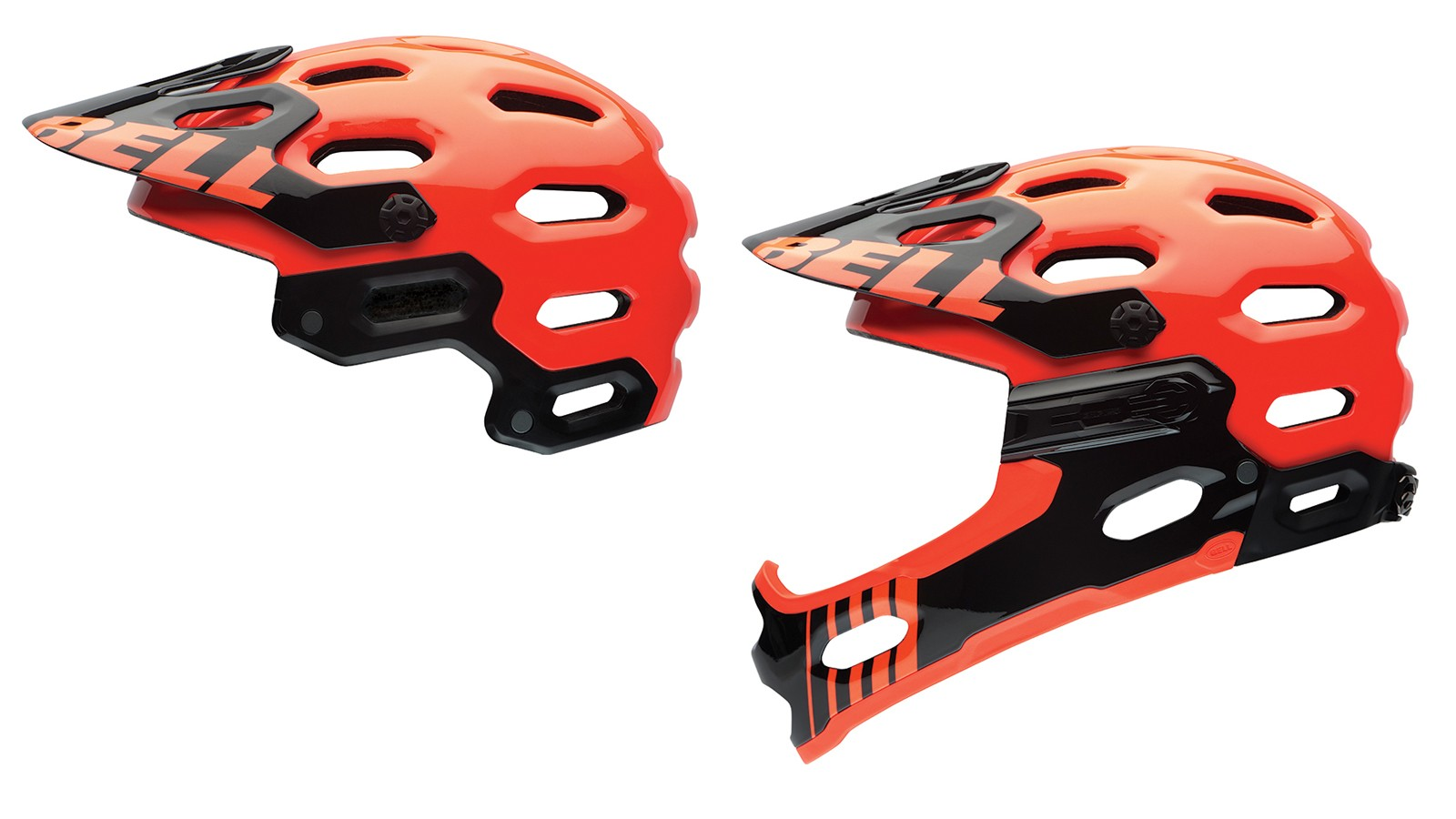 The Bell Super 2R is effectively two helmets in one