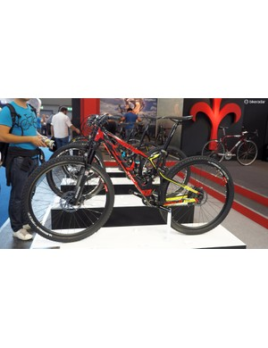 Wilier Triestina uses a floating shock arrangement on its full-suspension 901TRN
