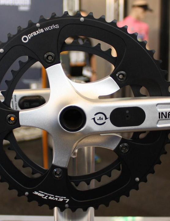 The new Verve Infocrank has a 130BCD spacing for use with traditional 53x39 chainrings