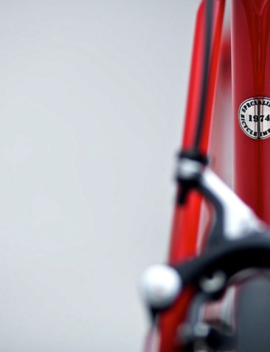 A sticker on the seat tube denotes the year Specialized was established