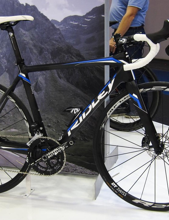 The new Ridley Fenix Disc. This Shimano Ultegra Di2 isn't offered as standard