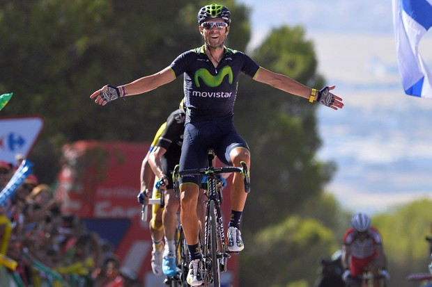 Alejandro Valverde grabs first place on stage 6 of the Vuelta