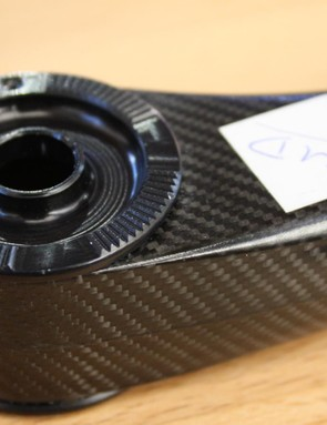 The carbon post appears to use the same splined knuckle style clamp as the company's long-standing Eternity alloy model
