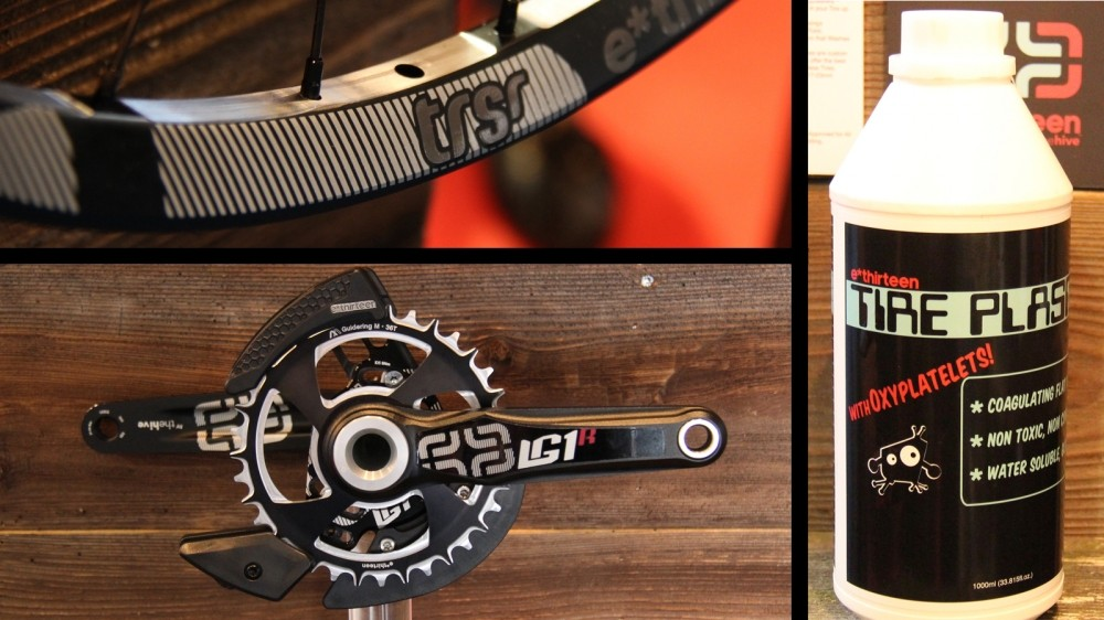 e*thirteen has updated its 1x guides, deveoped a new tubeless kit and lightened its wheelsets