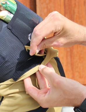 Velcro waist adjustments fine-tune the fit