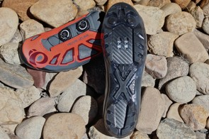 The X-Project sole is relatively flexible at the front and rear for real-world riding (and walking) conditions