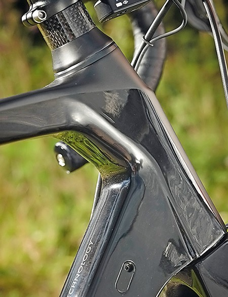 The Ultra has a shortish head-tube and is Di2 ready