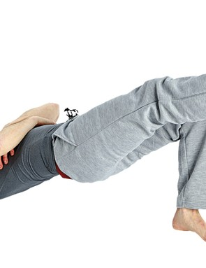 Take this to the next level by alternating one leg straight at a time. Also, taking the hands off the floor removes their stabilisation, therefore making the core work harder to keep balance
