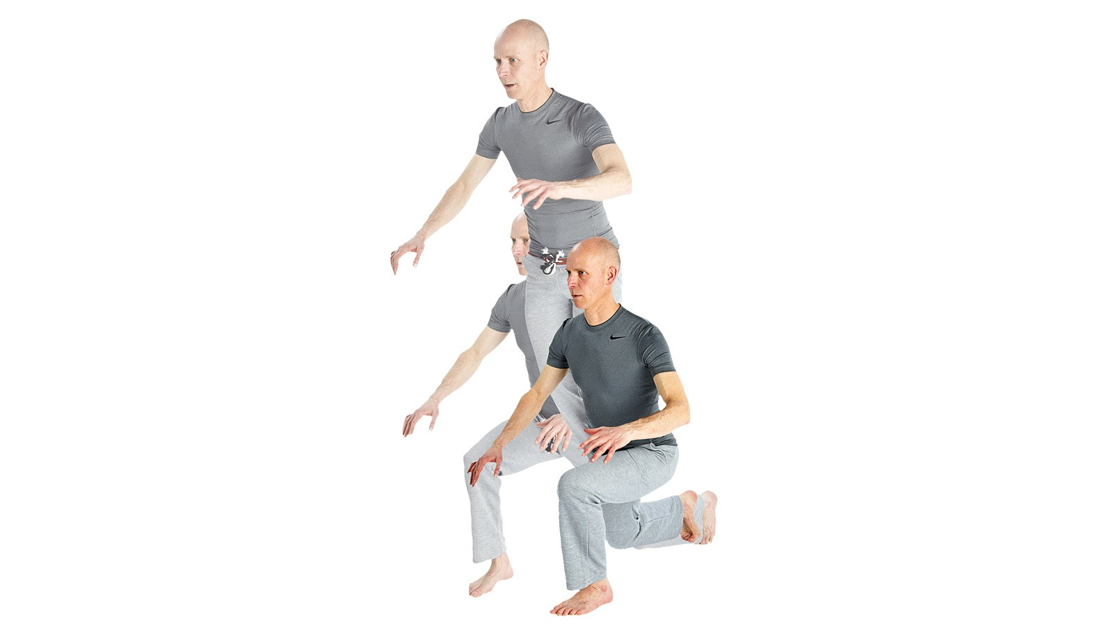 When you're totally comfortable with stepping lunges, give yourself a more intense cardio burn with these jumping lunges