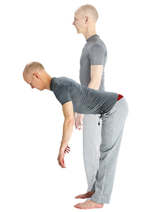 The good morning strecth works your hamstrings