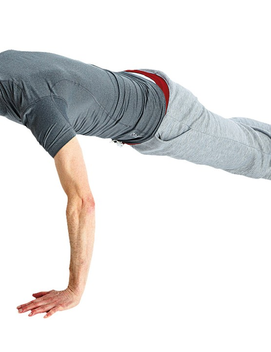 The asymmetric press-up challenges your core stability