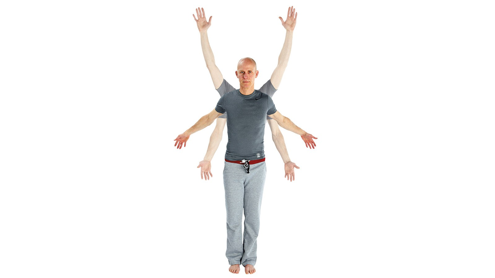 Rotate the arms in both directions