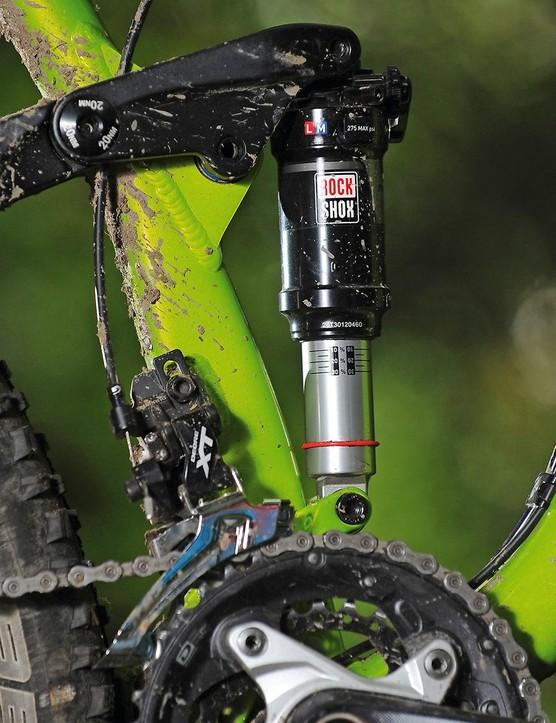 The floating shock provides supportive performance, but needs careful sag setup