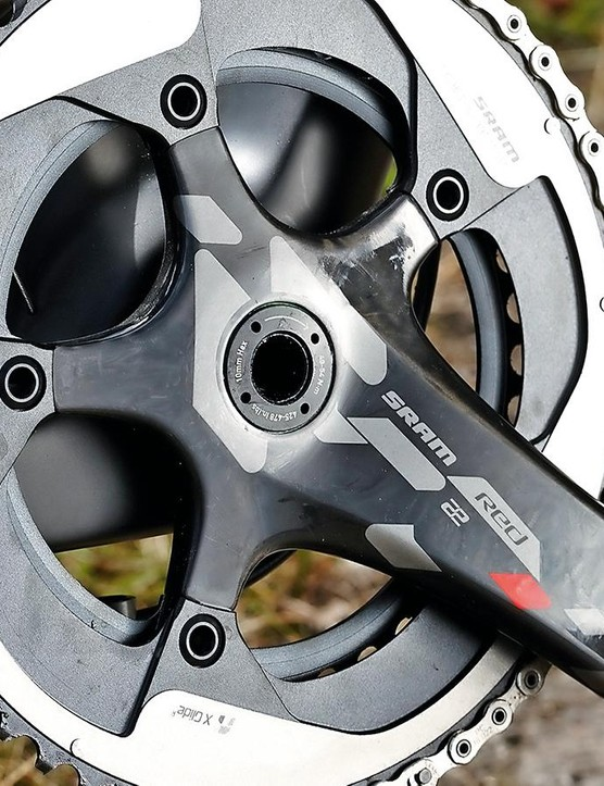 The 53/39 chainset and 11-26 cassette result in racy gearing