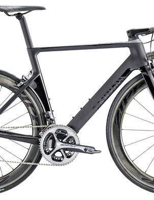 Canyon's new Aeroroad is a prime example of an aggressively focused race machine, with a top tube on the medium frame that's as long as the large size of the brand's Ultimate SLX all-rounder