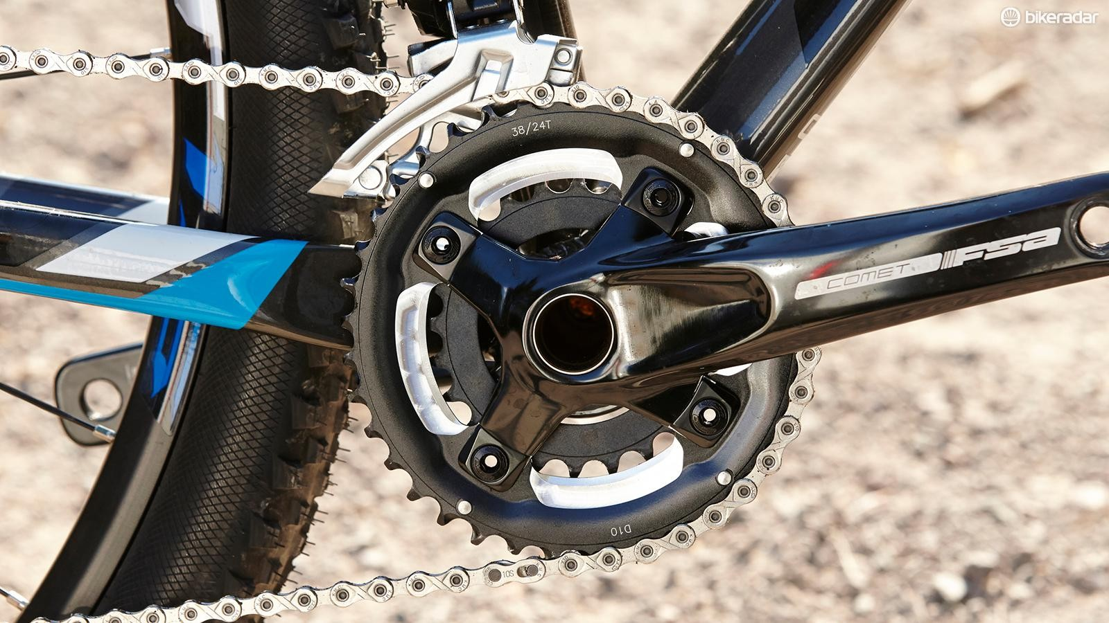 The double crankset is a real bonus at this price, where triples are still the norm