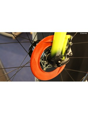 These disc brake guards had us scratching our heads
