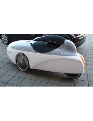 Human-powered vehicles like this one are not an uncommon sight