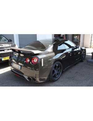This Nissan GTR was parked outside, clearly someone in the show enjoys speed on four wheels as well as two
