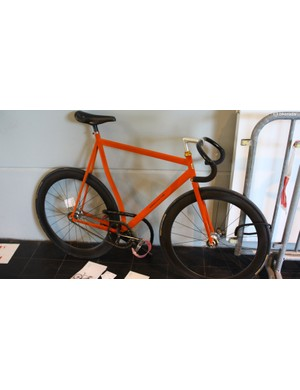 This custom track bike from Bedovelo appeared to have a flocked frame